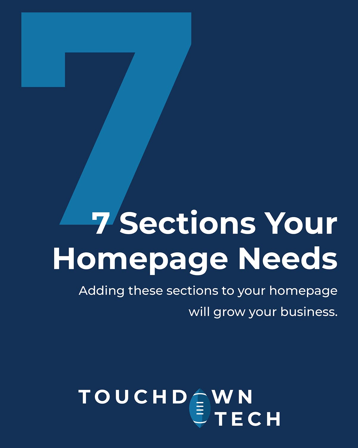 7 Sections Your Homepage Needs